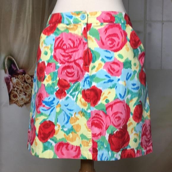 Talbots Dresses & Skirts - Talbots A-line Rose Pattern Skirt